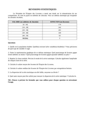 revisions statistiques exercice