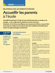 fiche pedagogique l accueil des parents a l ecole