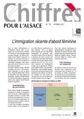 l immigration recente d abord feminine