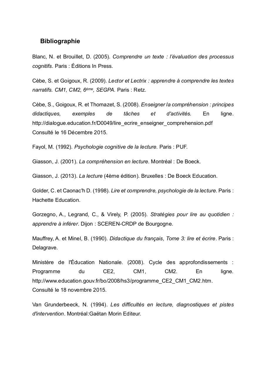 bibliographie pour un document pdf