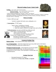 physical geology concepts
