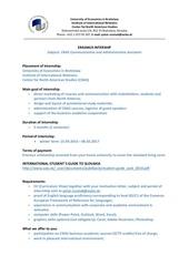 erasmus intership cnas support bratislava sk