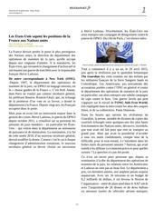 les etats unis sapent les positions de la france aux nations unies