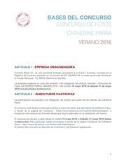 reglamento concurso fotos catherine parra verano 2016