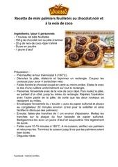 Fichier PDF mini palmiers chocolat noir et noix de coco