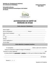 Fichier PDF autorisation de depot licence