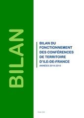 bilan 2014 2015 conferences de territoires idf
