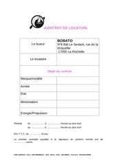 contrat location
