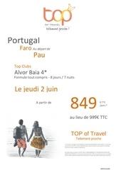 depart pau portugal