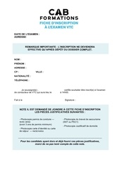 fiche d inscription vtc 1
