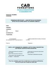 Fichier PDF fiche d inscription vtc