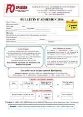 bulletin adhesion spaseen fo 2016