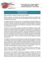 declaration uiafp fo ccfp du 29 mars 2016