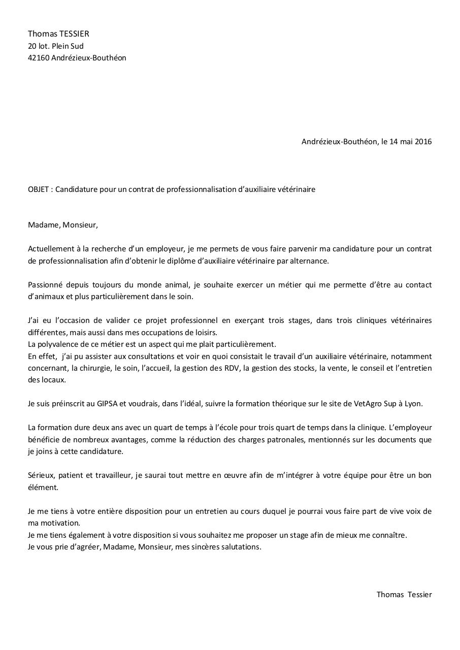 Lettre De Motivation Contrat Pro Par Céline Robert Fichier Pdf