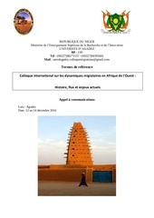 appel a communication colloque universite d agadez