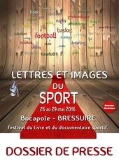 dossier de presse lettres et images du sport