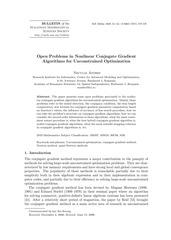 Fichier PDF 14 problemes ouverts sur le gradient conjugue sujets de theses de doctorat