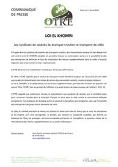 cp loi el khomri mobilisations des routiers