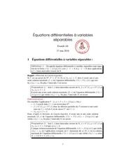 equations differentielles a variables separables