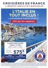 flyer italie secrete excursion