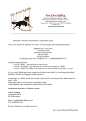 lettre invitation caesc passagility 2016