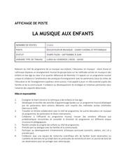 Fichier PDF offre d emploi la musique aux enfants Educateur chant