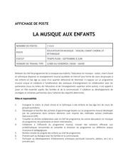 Fichier PDF offre d emploi la musique aux enfants Educateur violon