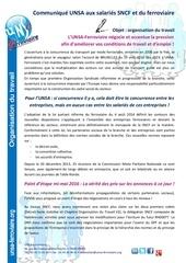 17 05 2016 conditions de travail communique aux salarie s unsa