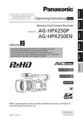 ag hpx250 panasonic manual pdf