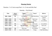 planning matchs bellecin 1