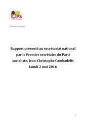 rapport de jcc sn 02052016