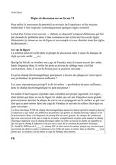 Fichier PDF regle de la discussion sur le forum
