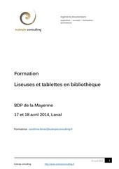 support pedagogique liseuse et tablette