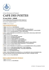 cafe des poetes 21 mai 2016 chaine 3