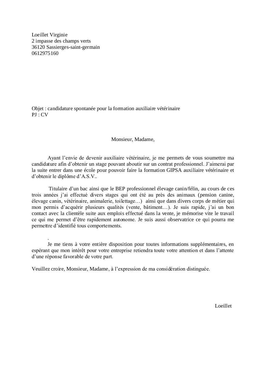 pdf  lettre de motivation stage animalerie