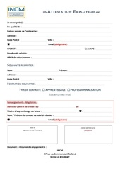 Fichier PDF attestation employeur