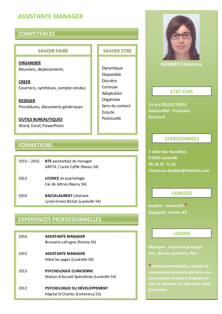 cv am pdf par laurine