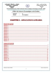 s2 exercices2 application lineaire