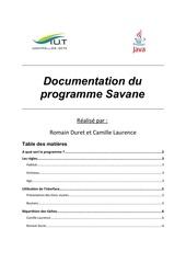 Fichier PDF documentation projetsavane