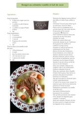 recette grand cru 2007 francais