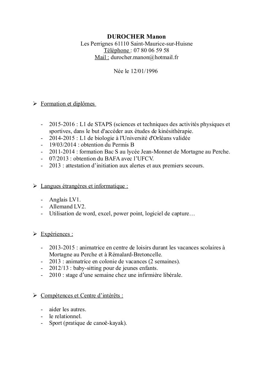 Aperçu du document CV-durocher.pdf - page 1/1