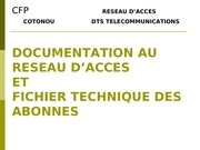 documentation au resau d acces
