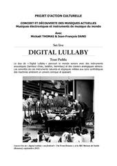 projet digital lullaby mai 2016