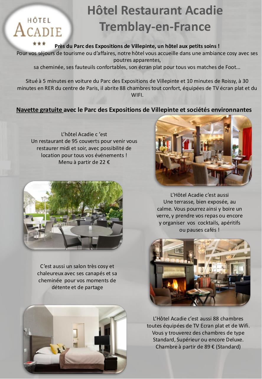 Hotel Restaurant Tremblay En France