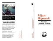 brochure rejean migneault
