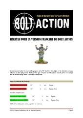 erratas pour la version fran aise de bolt action v1 3