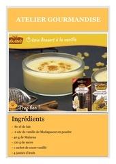 Fichier PDF recette vahine creme vanille