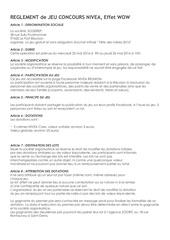 Fichier PDF reglement jeu concours nivea effet wow