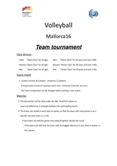 schedule volleybal