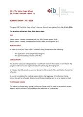 Fichier PDF application form summer camp vh 2016